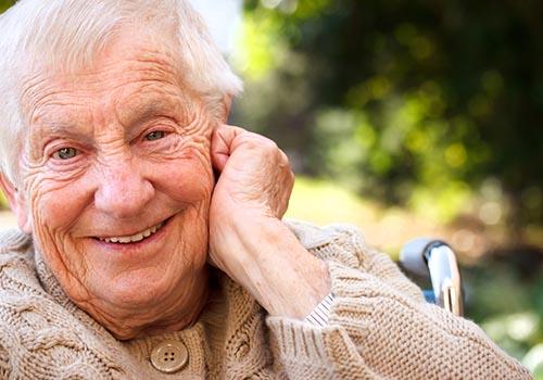 Foto von einem Senior