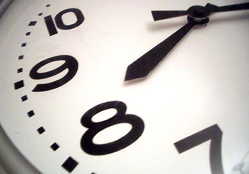 Foto einer Uhr