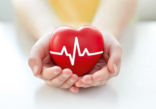 Foto von einem Herz in der Hand