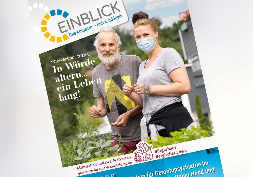 Einblick Das Magazin - nah & inklusiv Ausgabe Spätsommer/Herbst